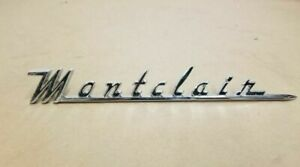 1955 1956 Mercury Montclair Fender Script Emblem Badge Bv 16098 a