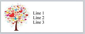 Personalized Address Labels Tree Of Hearts Buy 3 Get 1 Free jx 268