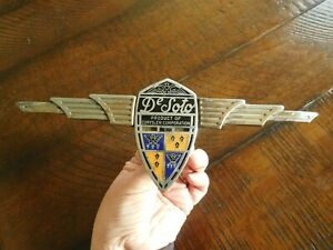 Desoto Airflow Trunk Emblem 1936 1937 Ornament Cloisonn Complete Badge
