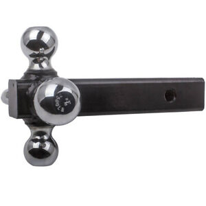 Tri ball Trailer Hitch Ball Receiver Mount W Hook 1 7 8 2 2 5 16 Towing