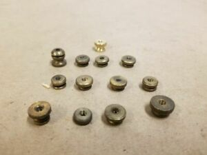 1910 S Ford Model T Era Brass Spark Plug Screw On Top Nuts