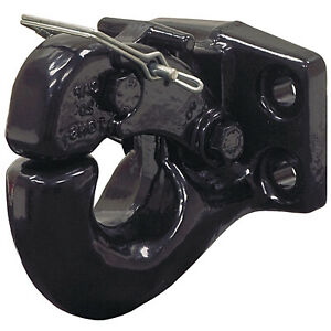 Trailer Pintle Hook 20 Tons Capacity Fits 1 1 4 In Ball Towing Truck Hitch Part
