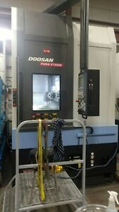 Used Doosan Vt 900 Cnc Live Tool Vtl Vertical Turret Lathe Turning Center Fanuc