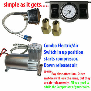 V Tow Assist Control In Cab Air Height Control 2 Paddle Switch Gauge Dc100