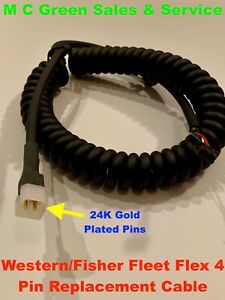 Western Fisher Fleet Flex Snow Plow 4 Pin Controller Custom Repair Cable cord