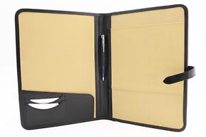 Leather Portfolio Leather Folio A4 Document Holder Leather Padfolio