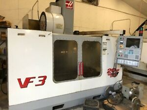Used Haas Vf 3 Cnc Vertical Machining Center Mill 4th Axis Ready Ct40 40x20 2000