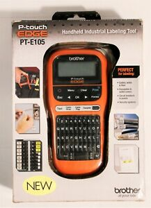 New Brother P touch Edge Pt e105 Handheld Industrial Cable Wire Label Maker Tool