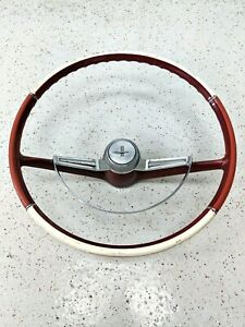 64 Corvair Monza Spyder Two Tone Steering Wheel Horn Ring 63 65 66 67 68 69 1964