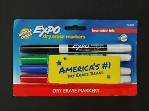 Expo Dry Erase Markers Intense Colors Low Odor Ink 4 Pack 55788 Brand New