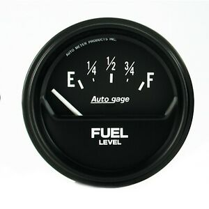 Autometer 2 5 8 Short Sweep Elec Fuel Level Gauge 0 90 Ohm For Gm Chevy 2316