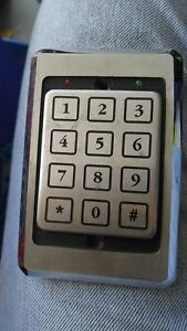 Essex Ktp 3235 sn Wiegand Stainless Steel Access Control Keypad 5 Volt 1a
