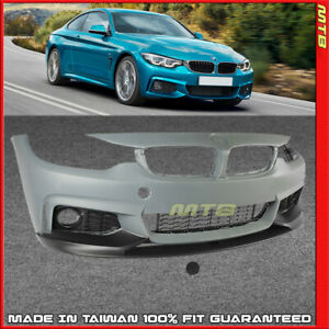 Front Lip Performance Style Bumper Cover For Bmw 2014 2020 4 Series F36 F32 F33