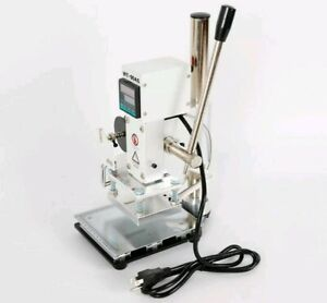 80 100mm Manual Digital Hot Foil Stamping Machine Wt 90as Leather Wooden Crafts