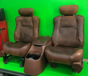 2002 F 150 King Ranch Driver Passenger Front Bucket Seat Console Patina Rod