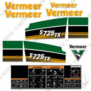 Vermeer S725tx Decal Kit s725 Tx Mini Skid Steer 7 Year Vinyl