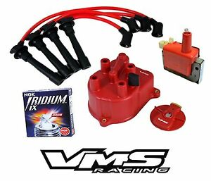 Vms Distributor Cap Rotor Wires Coil Ngk Spark Plugs For 92 00 Honda Civic D16