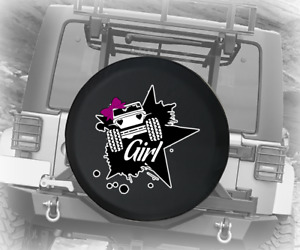 Spare Tire Cover Girl Car With Pink Bow And Star Adventure Jk Accessories