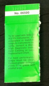 Welch Allyn Bulb Lamp 06500 Brand New In Original Authentic Oem Package