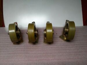 Lot Of 4 Aerol 14045 Poly Wheel Casters D