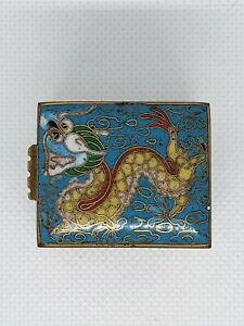 Old Vintage Cloisonne Stamp Box