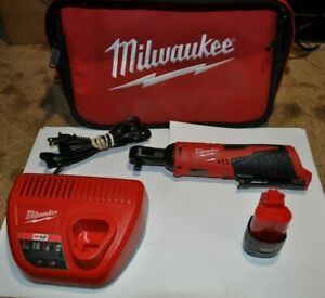 Milwaukee 2457 20 M12 3 8 Ratchet W Battery And Charger
