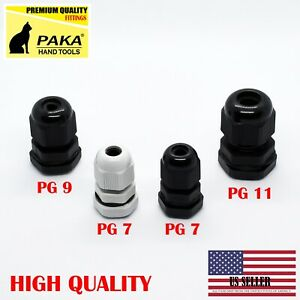 New Pg7 Pg9 Pg11 Plastic Waterproof Connector Gland Cable