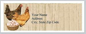 Personalized Address Labels Country Farm Chickens Egg Buy3 Get1 Free bx 241