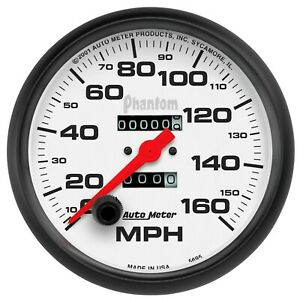 Auto Meter 5 Speedometer 0 160 Mph Mechanical Phantom 5895