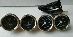 Smiths Replica 52 Mm 2 1 16 Gauges Kit Oil Temp Oil Fuel Amp Gauge