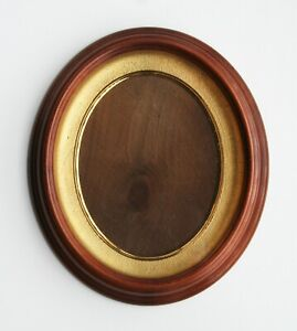 Antique Victorian Oval Walnut Deep Well Shadow Box Picture Frame 12 X 14