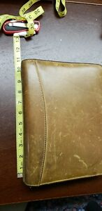 Franklin Covey Sandstone Genuine Leather Organizer Planner 19716 149 Made In Usa