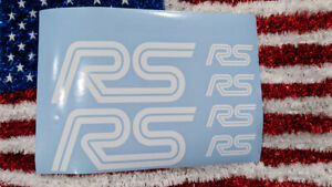 Ford Focus Rs Emblems Stickers Decals Assortment 6 Total Mult Colors
