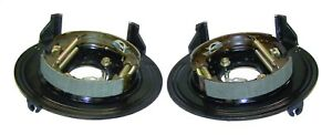 Fits 93 98 Jeep Grand Cherokee W Disc Brakes Rear Backing Plate Set