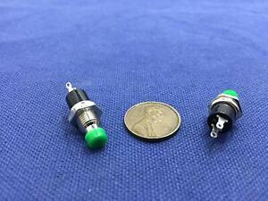 2 Pieces Green Mini Push Button Spst Momentary N o Off on Switch 6mm Fl6022 C1