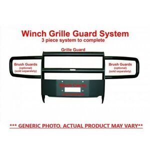 Go Industries Black Winch Grille Guard For Ford F Series 33644b