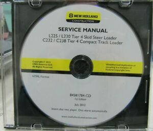 New Holland Construction Service Manual For Loaders On Cd 84581784 cd