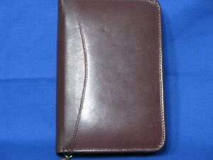 Design A Day Brown Address Directory Notepad Organizer 5 x8 Leather