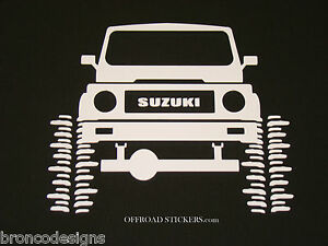 2 Suzuki Samurai Sticker Decal 05 Boobie Bouncer