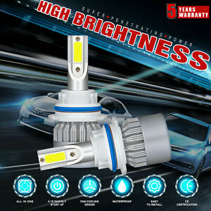 9004 Hb1 Cree Led Headlight Conversion Kit Bulbs 1800w 270000lm Lamp Hi lo 6000k