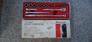 Snap on 1 2 Drive 17 Piece General Service Set 6 Point
