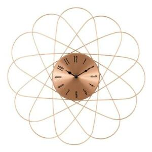 Mid Century Clock Orbit Copper Metal Wall Clock 24 In