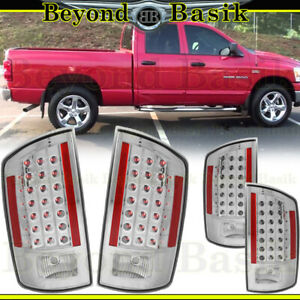 For 2007 2008 Dodge Ram 1500 2007 2009 Ram 2500 3500 Chrome Led Taillights