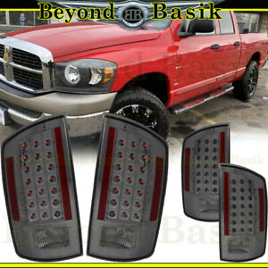 For 2007 2008 Dodge Ram 1500 2007 2009 Ram 2500 3500 Smoke Led Taillights