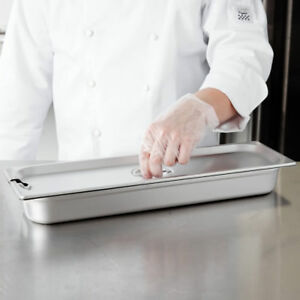 1 2 Size Long Slotted Stainless Steel Steam Table Hotel Pan Cover Lid