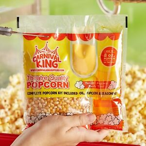 24 pack All in one Large Butterfly Popcorn Kit For 8 Oz To 10 Oz Poppers
