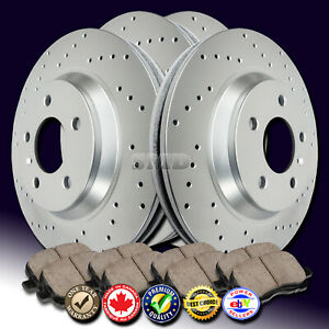 Z0224 Fit 2003 2002 Acura Cl Type s 3 2l Cross Drilled Brake Rotors Ceramic Pads