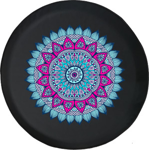 Spare Tire Cover Multicolor Pink Flower Colorful Offroad Jk Accessories
