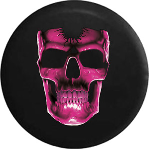 Spare Tire Cover 3d Cracked Grinning Skull Almost Glowing Pink Jk Accessories