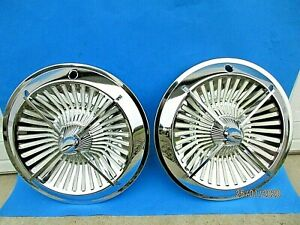 Nos Vintage Accessory 4 bar Spinner Hub Caps Hubcaps 13 1960 s 1970s Old School